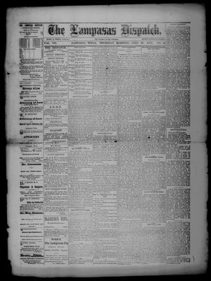 Primary view of object titled 'The Lampasas Dispatch (Lampasas, Tex.), Vol. 7, No. 9, Ed. 1 Thursday, July 26, 1877'.