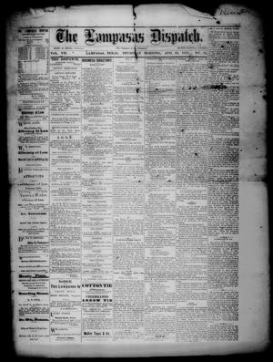 Primary view of object titled 'The Lampasas Dispatch (Lampasas, Tex.), Vol. 7, No. 12, Ed. 1 Thursday, August 16, 1877'.
