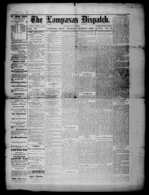 Primary view of object titled 'The Lampasas Dispatch (Lampasas, Tex.), Vol. 7, No. 16, Ed. 1 Thursday, September 13, 1877'.
