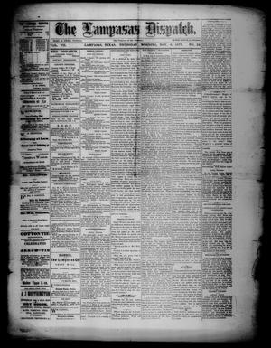 Primary view of object titled 'The Lampasas Dispatch (Lampasas, Tex.), Vol. 7, No. 24, Ed. 1 Thursday, November 8, 1877'.