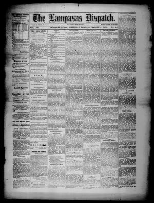 Primary view of object titled 'The Lampasas Dispatch (Lampasas, Tex.), Vol. 7, No. 42, Ed. 1 Thursday, March 21, 1878'.