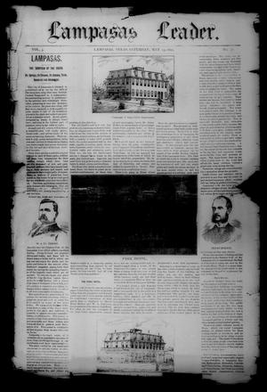 Primary view of object titled 'Lampasas Leader. (Lampasas, Tex.), Vol. 3, No. 31, Ed. 1 Saturday, May 23, 1891'.