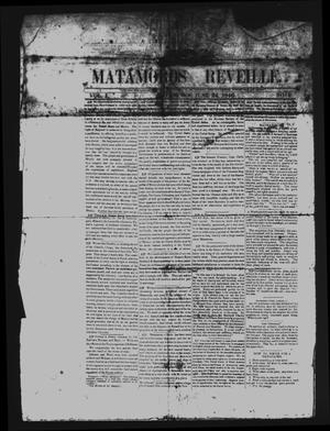 Primary view of object titled 'Matamoros Reveille (Matamoros, Mexico), Vol. 1, No. 1, Ed. 1 Wednesday, June 24, 1846'.