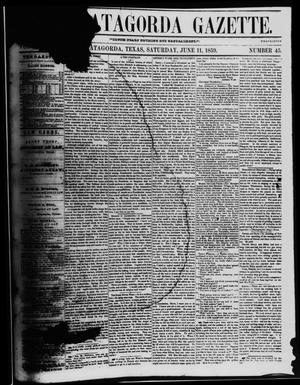 The Matagorda Gazette. (Matagorda, Tex.), Vol. 1, No. 45, Ed. 1 Saturday, June 11, 1859
