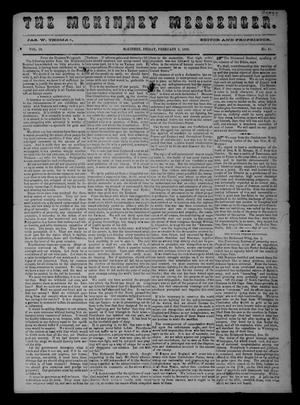 Primary view of object titled 'The McKinney Messenger. (McKinney, Tex.), Vol. 10, No. 31, Ed. 1 Friday, February 3, 1865'.
