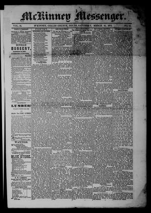 McKinney Messenger. (McKinney, Tex.), Vol. 16, No. 41, Ed. 1 Saturday, March 16, 1872