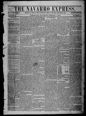 The Navarro Express (Corsicana, Tex.), Vol. 1, No. 17, Ed. 1 Saturday, March 17, 1860