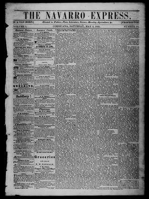 The Navarro Express (Corsicana, Tex.), Vol. 1, No. 24, Ed. 1 Saturday, May 5, 1860