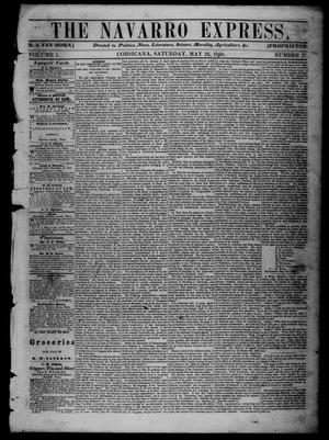 The Navarro Express (Corsicana, Tex.), Vol. 1, No. 27, Ed. 1 Saturday, May 26, 1860