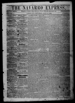 The Navarro Express (Corsicana, Tex.), Vol. 1, No. 34, Ed. 1 Saturday, July 14, 1860