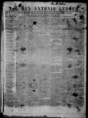 Primary view of object titled 'The San Antonio Ledger. (San Antonio, Tex.), Vol. 2, No. 1, Ed. 1 Thursday, May 29, 1851'.