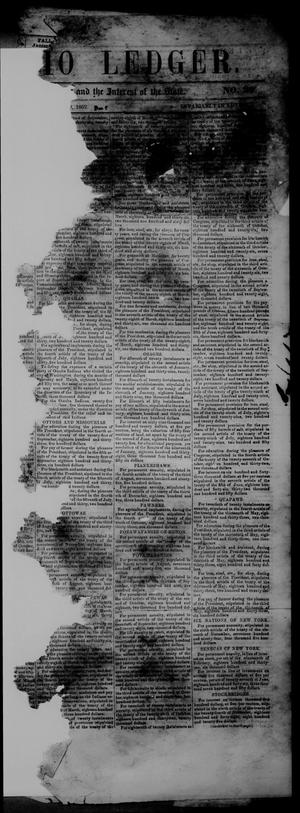 Primary view of object titled 'The San Antonio Ledger. (San Antonio, Tex.), Vol. 3, No. 29, Ed. 1 Thursday, December 9, 1852'.