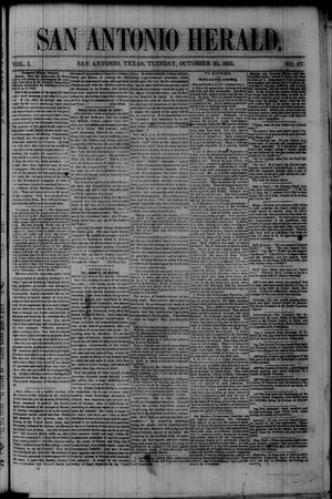 San Antonio Herald. (San Antonio, Tex.), Vol. 1, No. 27, Ed. 1 Tuesday, October 23, 1855