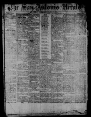 Primary view of object titled 'The San Antonio Herald. (San Antonio, Tex.), Vol. 8, No. 11, Ed. 1 Saturday, May 31, 1862'.