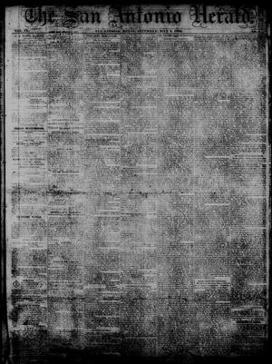 Primary view of object titled 'The San Antonio Herald. (San Antonio, Tex.), Vol. 9, No. 7, Ed. 1 Saturday, May 2, 1863'.