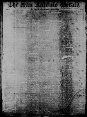 Primary view of object titled 'The San Antonio Herald. (San Antonio, Tex.), Vol. 9, No. 11, Ed. 1 Saturday, May 30, 1863'.
