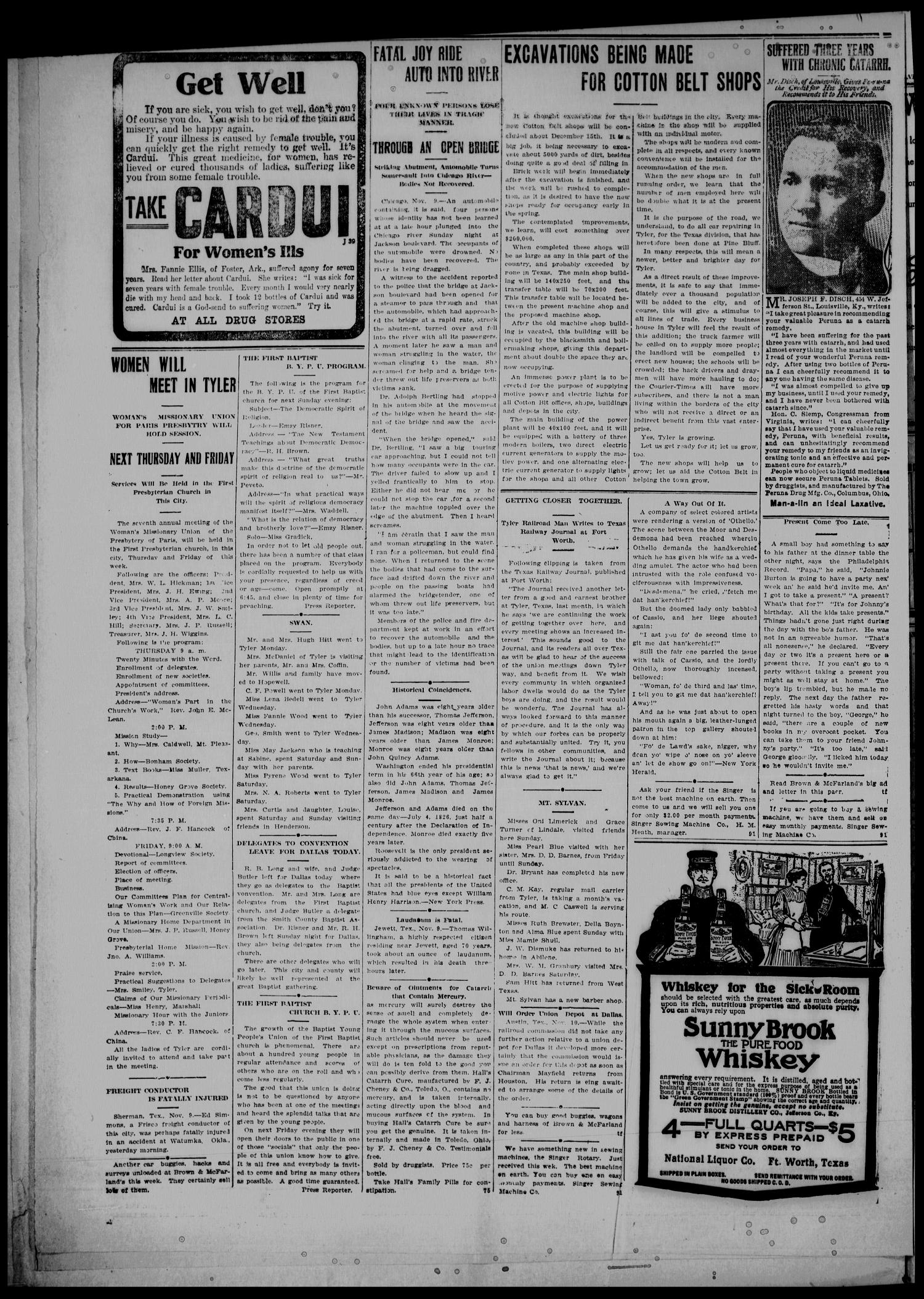 Semi-Weekly Courier-Times. (Tyler, Tex.), Vol. 26, No. 91, Ed. 1 Saturday, November 13, 1909                                                                                                      [Sequence #]: 6 of 8