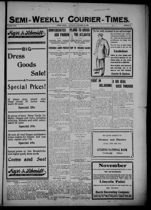 Semi-Weekly Courier-Times. (Tyler, Tex.), Vol. 26, No. 93, Ed. 1 Saturday, November 20, 1909