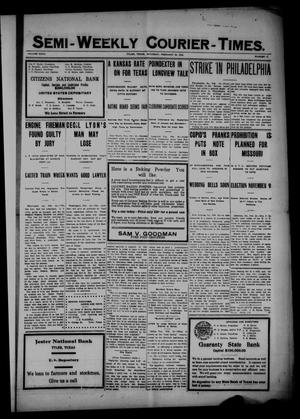 Semi-Weekly Courier-Times. (Tyler, Tex.), Vol. 27, No. 17, Ed. 1 Saturday, February 26, 1910