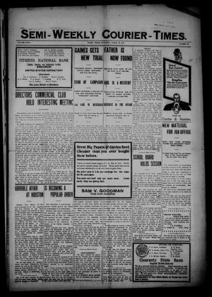 Semi-Weekly Courier-Times. (Tyler, Tex.), Vol. 27, No. 23, Ed. 1 Saturday, March 19, 1910