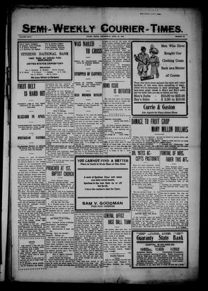 Primary view of Semi-Weekly Courier-Times. (Tyler, Tex.), Vol. 27, No. 34, Ed. 1 Wednesday, April 27, 1910