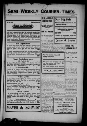 Semi-Weekly Courier-Times. (Tyler, Tex.), Vol. 27, No. 61, Ed. 1 Saturday, July 30, 1910