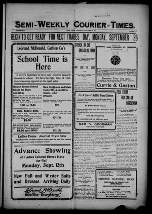 Semi-Weekly Courier-Times. (Tyler, Tex.), Vol. 27, No. 74, Ed. 1 Wednesday, September 14, 1910