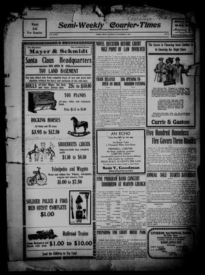 Primary view of object titled 'Semi-Weekly Courier-Times. (Tyler, Tex.), Vol. 27, No. 92, Ed. 1 Saturday, December 3, 1910'.