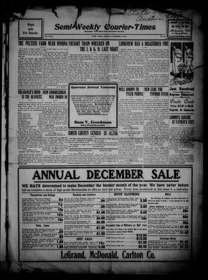 Primary view of object titled 'Semi-Weekly Courier-Times. (Tyler, Tex.), Vol. 27, No. 93, Ed. 1 Saturday, December 10, 1910'.