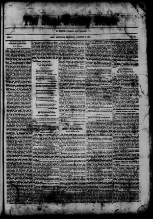 Primary view of object titled 'The Semi-Weekly News. (San Antonio, Tex.), Vol. 1, No. 74, Ed. 1 Monday, August 4, 1862'.