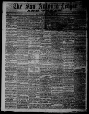 Primary view of object titled 'The San Antonio Ledger and Texan. (San Antonio, Tex.), Vol. 10, No. 50, Ed. 1 Saturday, June 15, 1861'.