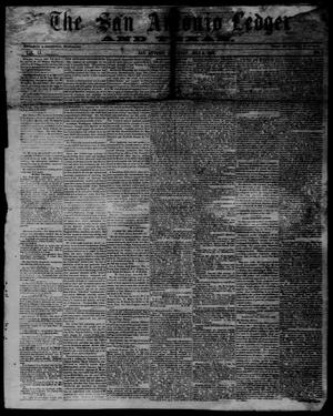 Primary view of object titled 'The San Antonio Ledger and Texan. (San Antonio, Tex.), Vol. 11, No. 1, Ed. 1 Saturday, July 6, 1861'.