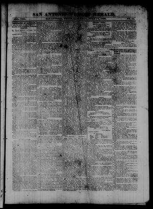 San Antonio Weekly Herald. (San Antonio, Tex.), Vol. 8, No. 19, Ed. 1 Saturday, July 26, 1862