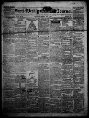 Primary view of object titled 'The Semi-Weekly Journal. (Galveston, Tex.), Vol. 4, No. 37, Ed. 1 Thursday, June 16, 1853'.
