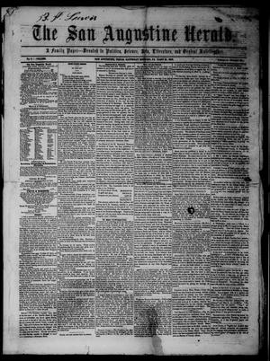 Primary view of object titled 'The San Augustine Herald.(San Augustine, Tex.), Vol. 4, No. 37, Ed. 1 Saturday, January 21, 1854'.