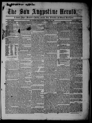 Primary view of object titled 'The San Augustine Herald.(San Augustine, Tex.), Vol. 4, No. 51, Ed. 1 Saturday, May 6, 1854'.