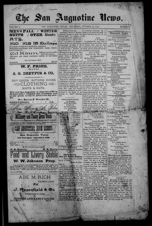 Primary view of object titled 'The San Augustine News. (San Augustine, Tex.), Vol. 5, No. 50, Ed. 1 Thursday, October 27, 1892'.