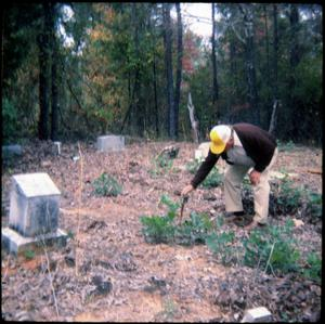 Primary view of object titled '[Working a Cemetery]'.