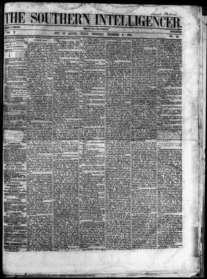 Primary view of object titled 'The Southern Intelligencer. (Austin, Tex.), Vol. 2, No. 23, Ed. 1 Thursday, December 6, 1866'.