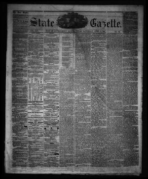 Primary view of object titled 'State Gazette. (Austin, Tex.), Vol. 12, No. 35, Ed. 1 Saturday, April 6, 1861'.