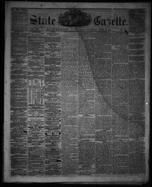 Primary view of object titled 'State Gazette. (Austin, Tex.), Vol. 12, No. 36, Ed. 1 Saturday, April 13, 1861'.