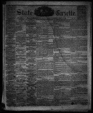 Primary view of object titled 'State Gazette. (Austin, Tex.), Vol. 12, No. 37, Ed. 1 Saturday, April 20, 1861'.