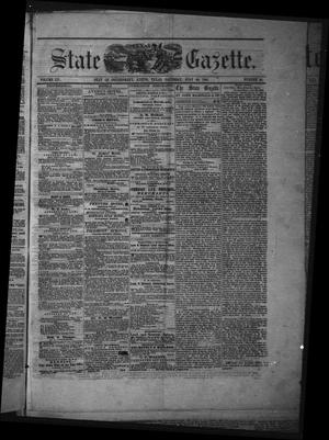 Primary view of object titled 'Texas State Gazette. (Austin, Tex.), Vol. 12, No. 50, Ed. 1 Saturday, July 20, 1861'.