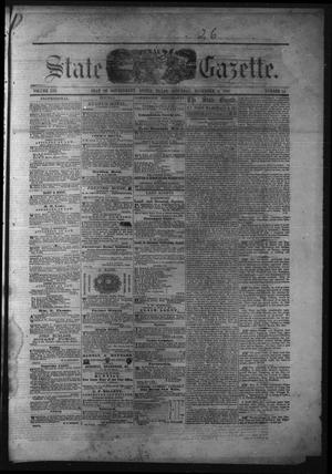 Primary view of object titled 'Texas State Gazette. (Austin, Tex.), Vol. 13, No. 14, Ed. 1 Saturday, November 9, 1861'.