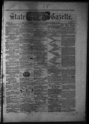 Primary view of object titled 'Texas State Gazette. (Austin, Tex.), Vol. 13, No. 15, Ed. 1 Saturday, November 16, 1861'.