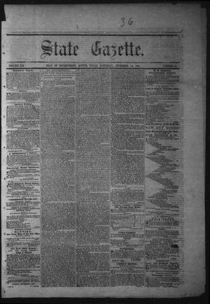 Primary view of object titled 'State Gazette. (Austin, Tex.), Vol. 13, No. 19, Ed. 1 Saturday, December 14, 1861'.