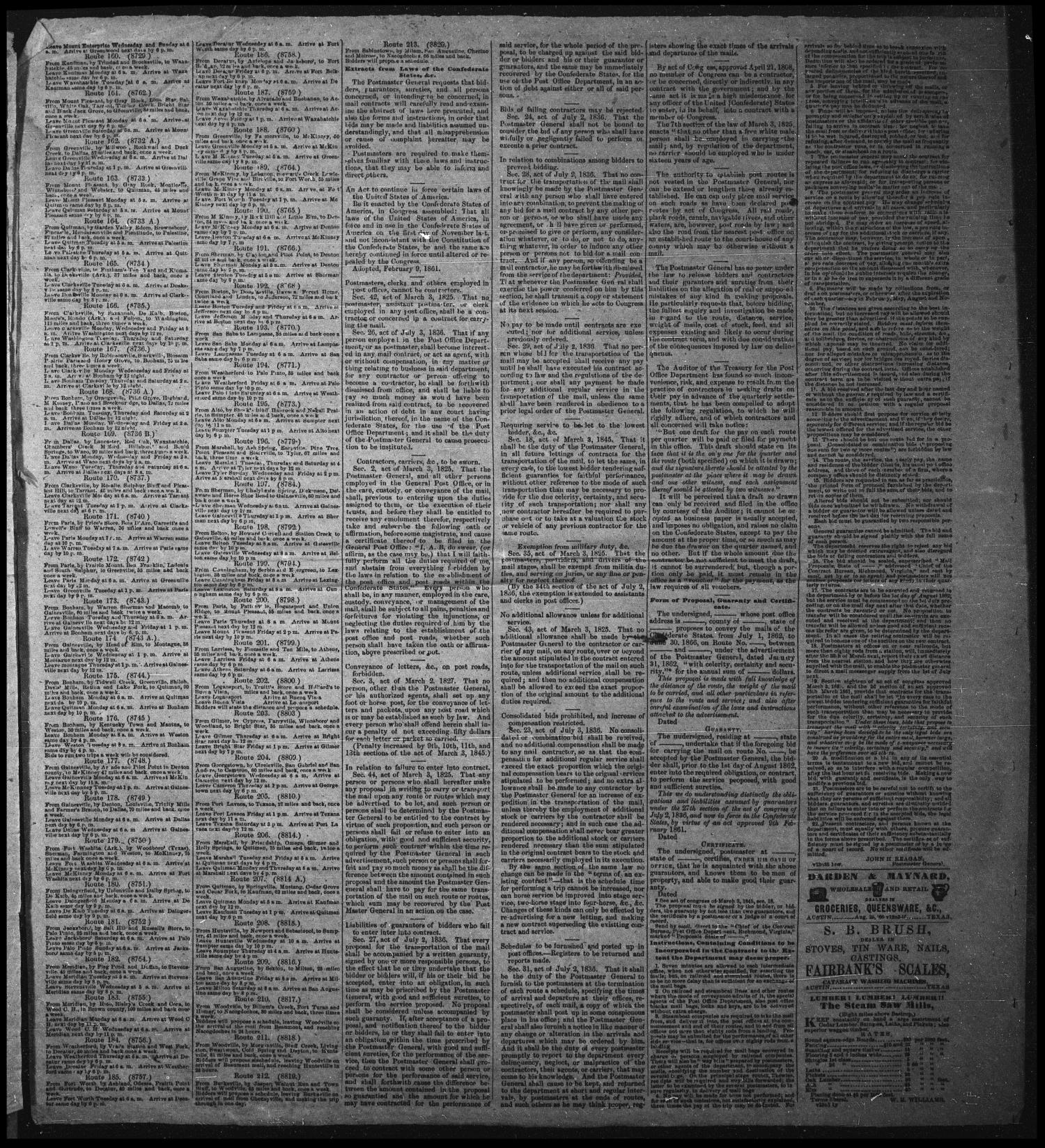 The State Gazette. (Austin City, Tex.), Vol. 13, No. 43, Ed. 1 Saturday, May 31, 1862                                                                                                      [Sequence #]: 2 of 4