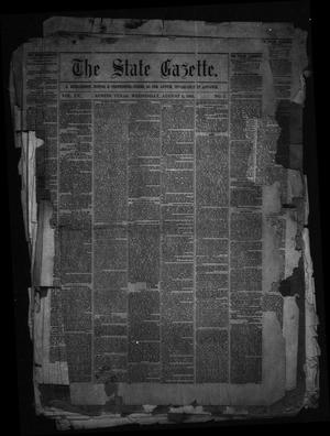 Primary view of object titled 'The State Gazette. (Austin, Tex.), Vol. 15, No. 1, Ed. 1 Wednesday, August 5, 1863'.