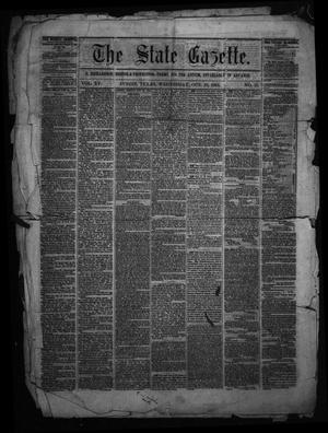 Primary view of object titled 'The State Gazette. (Austin, Tex.), Vol. 15, No. 13, Ed. 1 Wednesday, October 28, 1863'.
