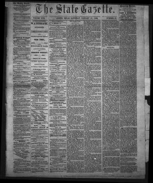 Primary view of object titled 'The State Gazette. (Austin, Tex.), Vol. 17, No. 21, Ed. 1 Saturday, January 27, 1866'.
